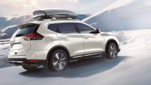 2020 Nissan Rogue with Intelligent All-Wheel Drive on snow